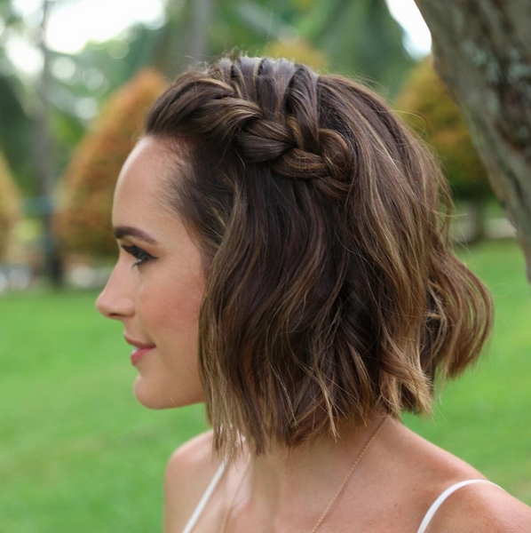 16 Beautiful Boho Wedding Hairstyles | Pinterest | Short Wedding With Regard To Wedding Hairstyles For Short Hair For Bridesmaids (View 4 of 15)