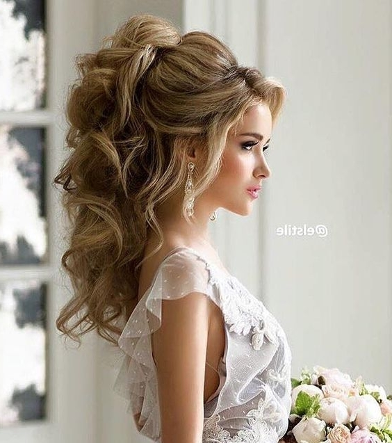 16 Best Frisur Images On Pinterest | Bridal Hairstyles, Hair Ideas With Wedding Hairstyles For Long Hair And Bangs (View 1 of 15)