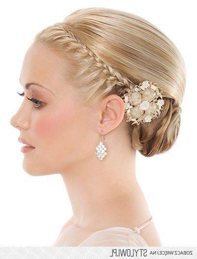 16 Best Fryzury ?lub Images On Pinterest | Bridal Hairstyles, Half Regarding Bridal Hairstyles For Medium Length Thin Hair (View 14 of 15)