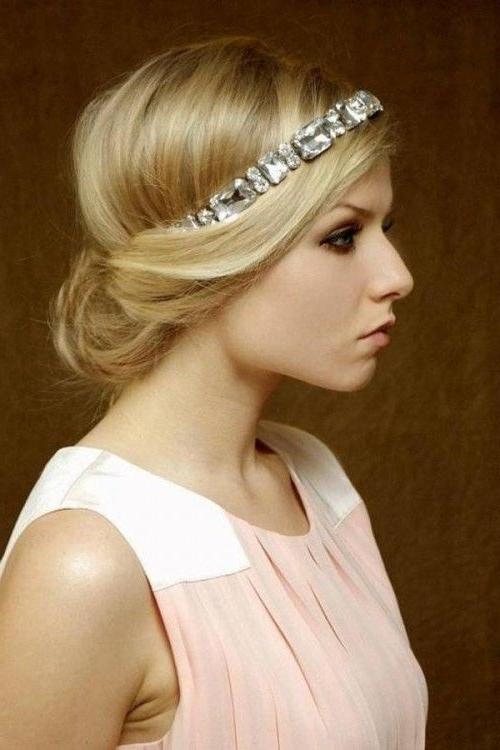 16 Glamorous Bridesmaid Hairstyles For Long Hair – Pretty Designs Intended For Wedding Hairstyles For Long Hair With Headband (View 2 of 15)