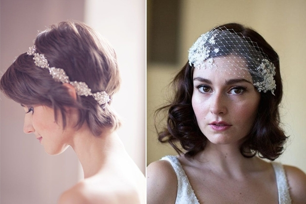 16 Romantic Wedding Hairstyles For Short Hair | Weddingsonline In Wedding Hairstyles On Short Hair (View 9 of 15)