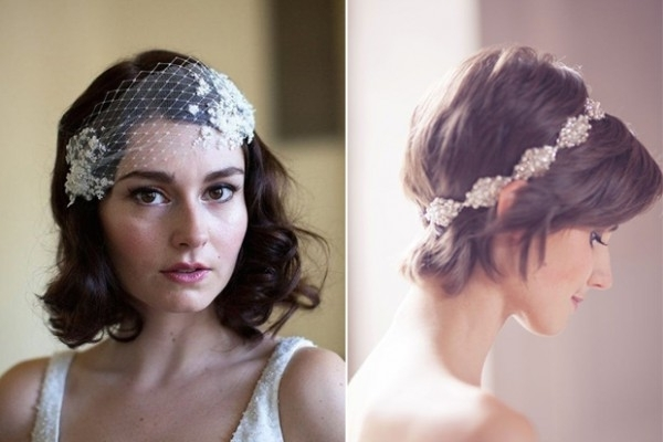 16 Romantic Wedding Hairstyles For Short Hair | Weddingsonline With Bohemian Wedding Hairstyles For Short Hair (View 6 of 15)