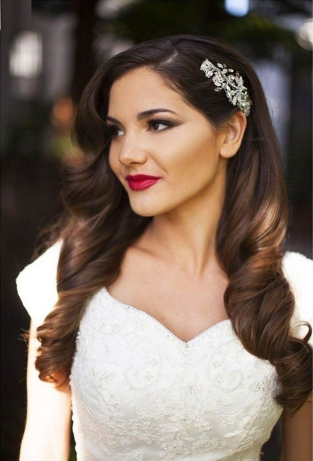 16 Seriously Chic Vintage Wedding Hairstyles | Pinterest | Vintage Within Down Long Hair Wedding Hairstyles (View 1 of 15)