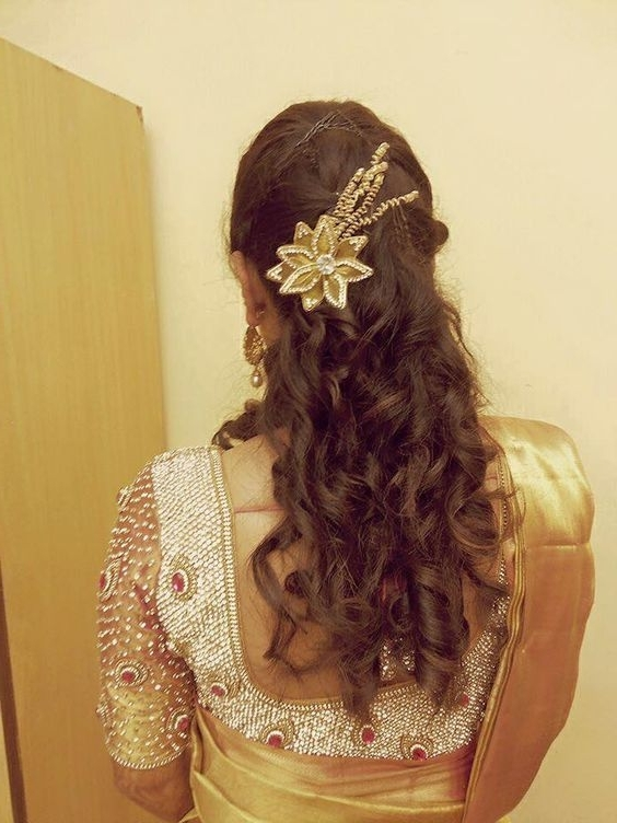 164 Best Bridal Hair Do Images On Pinterest | Bridal Hairstyles Pertaining To Wedding Reception Hairstyles For Saree (View 3 of 15)