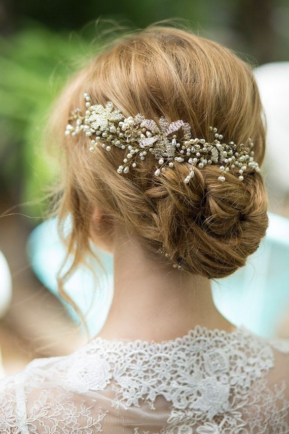 1682 Best My Favorite Hairstyles Images On Pinterest | Bridal Pertaining To Wedding Hairstyles With Jewelry (View 9 of 15)