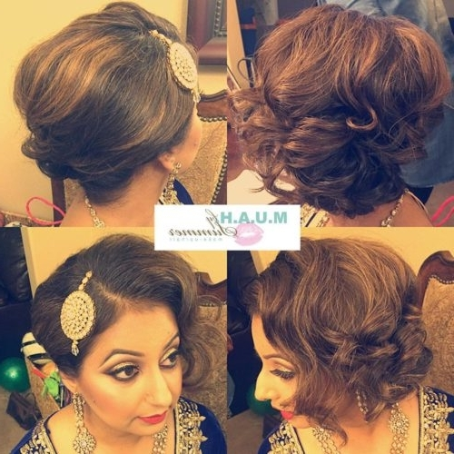 17 Best Wedding Hairstyles For Short Hair: Ideas For Indian Brides Within Indian Wedding Hairstyles For Short And Thin Hair (View 6 of 15)