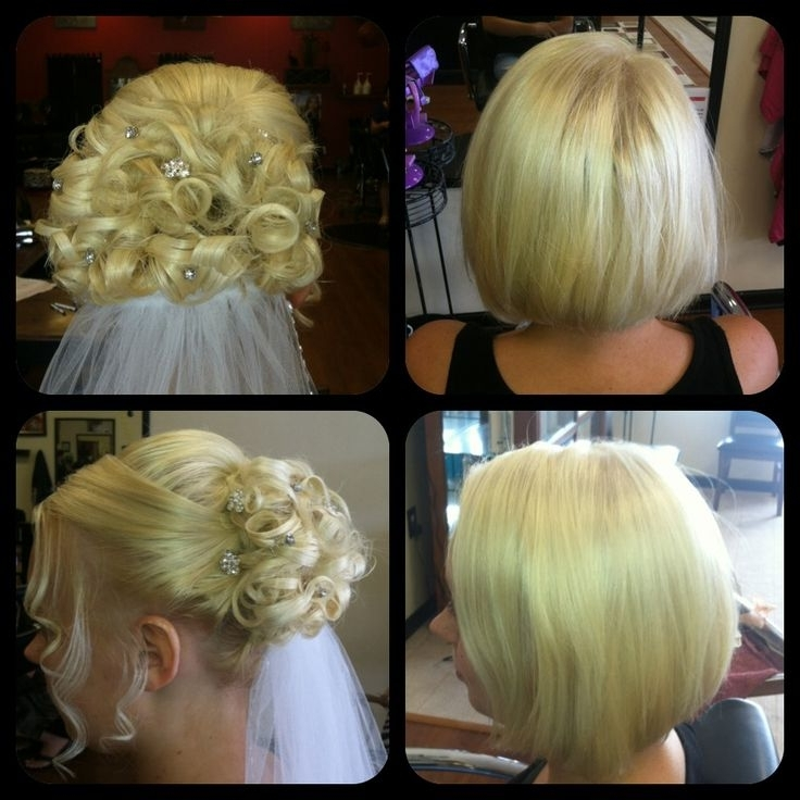18 Best Short Hair Updos Images On Pinterest | Hair Dos, Hairdos And Intended For Wedding Hairstyles For Short Hair With Extensions (View 6 of 15)