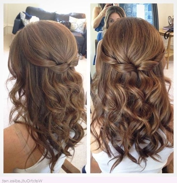 18 Elegant Hairstyles For Prom: Best Prom Hair Styles 2017 Within Half Up Half Down Wedding Hairstyles For Medium Length Hair (View 2 of 15)