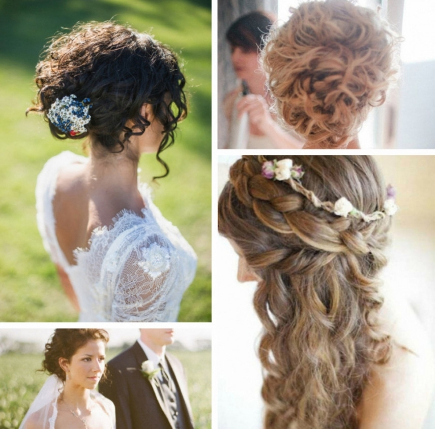 18 Natural Curly Hair Wedding Styles, Curly Wedding Updo Hairstyles Regarding Wedding Hairstyles For Naturally Curly Hair (View 6 of 15)