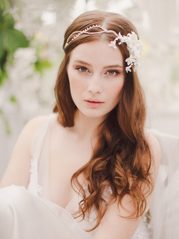 18 Stunning Wedding Hair Accessories For Brides Wearing Their Hair With Wedding Hairstyles Down With Headband (View 1 of 15)