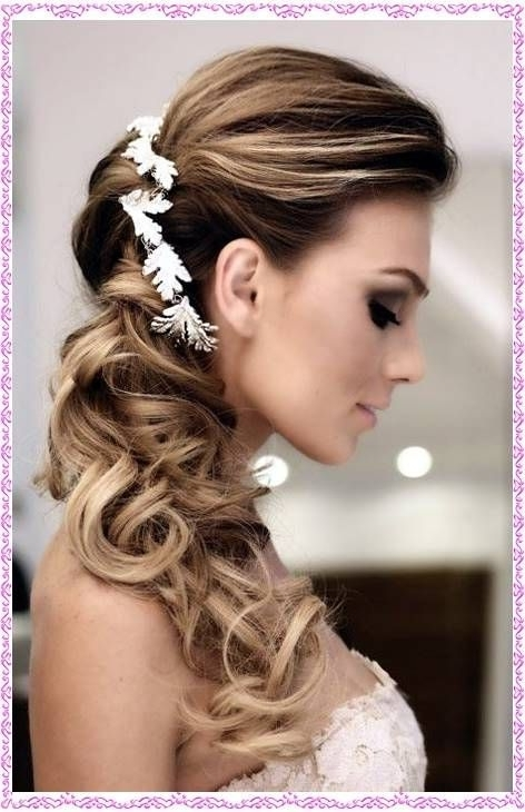 19 Best Down And Off To The Side Images On Pinterest | Hairstyle Regarding Off To The Side Wedding Hairstyles (View 6 of 15)