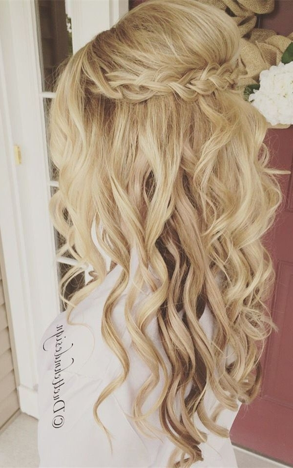 20 Amazing Half Up Half Down Wedding Hairstyle Ideas | Long Throughout Wedding Hairstyles For Long Hair Half Up And Half Down (View 14 of 15)