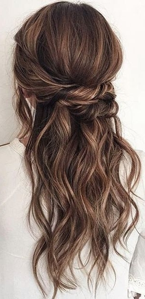 20 Amazing Half Up Half Down Wedding Hairstyle Ideas | Pinterest With Half Up Half Down Wedding Hairstyles (View 15 of 15)