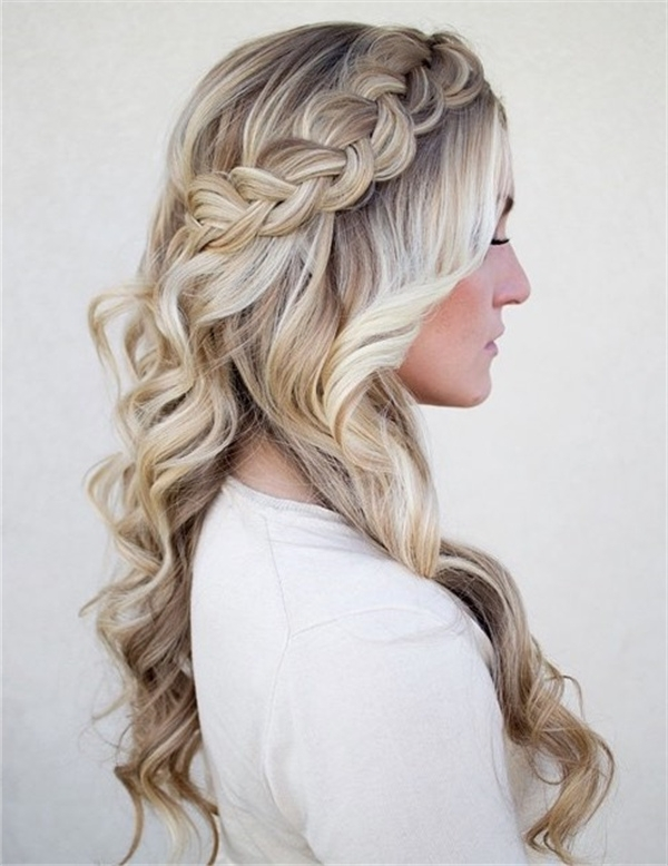 20 Awesome Half Up Half Down Wedding Hairstyle Ideas Pertaining To Wedding Hairstyles Down With Braids (View 3 of 15)