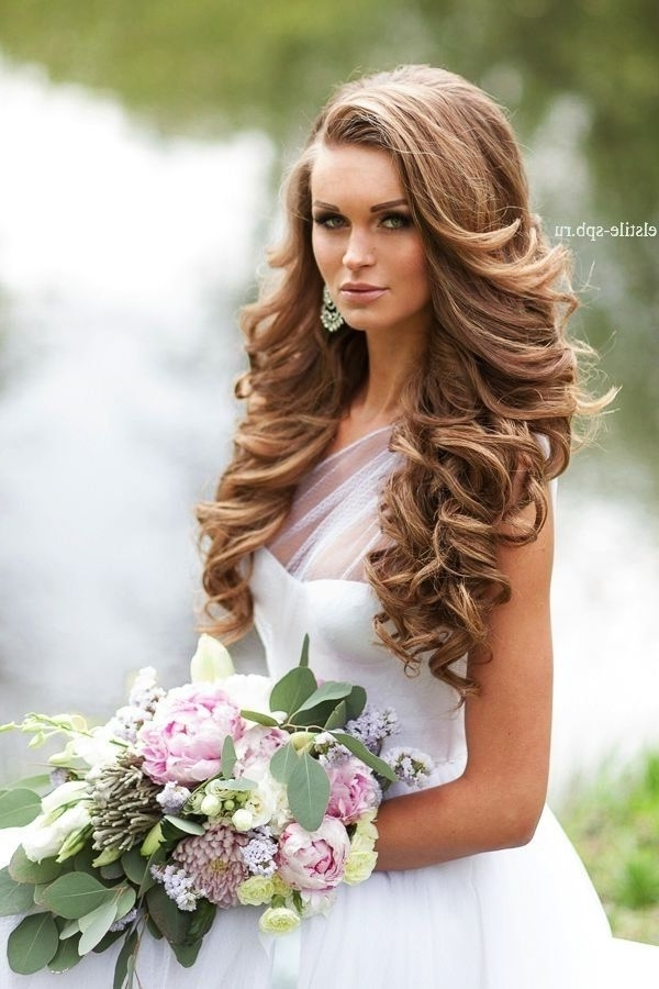 20 Best New Wedding Hairstyles To Try | Long Curly, Curly And Wedding With Regard To Wedding Hairstyles Without Curls (View 4 of 15)