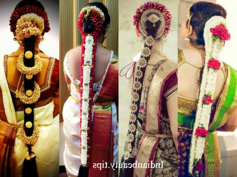 20 Gorgeous South Indian Wedding Hairstyles – Indian Beauty Tips Pertaining To Traditional Wedding Hairstyles (View 3 of 15)