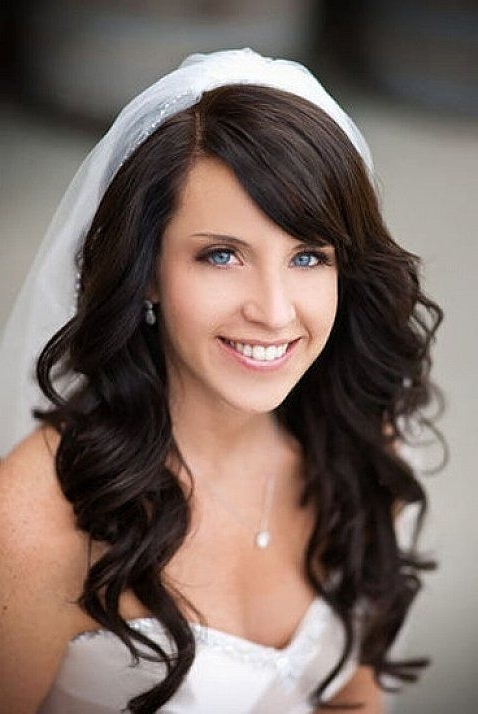 20 Gorgeous Wedding Hairstyles From Pinterest | Bridal Hairstyle With Regard To Wedding Hairstyles For Long Curly Hair With Veil (View 6 of 15)