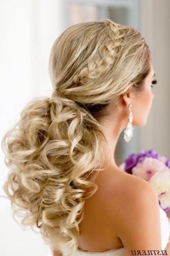 20 Gorgeous Wedding Hairstyles | Ponytail, Wedding And Wedding Within Wedding Hairstyles For Long Ponytail Hair (View 2 of 15)