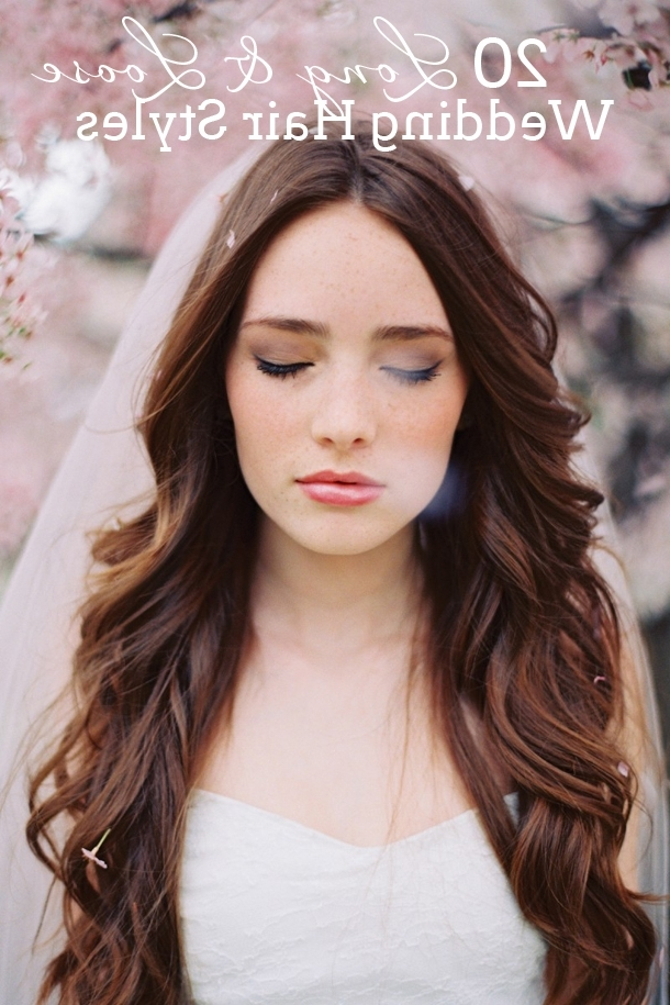 20 Long & Loose Wedding Hairstyles | Southbound Bride Pertaining To Wedding Hairstyles For Long Loose Curls Hair (View 1 of 15)