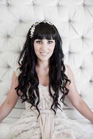 20 Long Wedding Hairstyles | Define Loose, Loose Curls And Headpieces Intended For Wedding Hairstyles For Long Hair With Fringe (View 5 of 15)