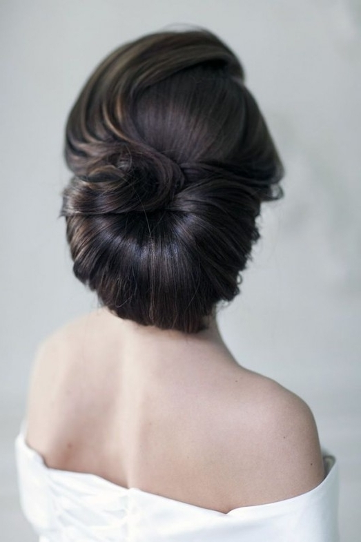 20 Most Beautiful Bridal Updos For Elegant Brides – Hottest Haircuts Throughout Elegant Updo Wedding Hairstyles (View 7 of 15)