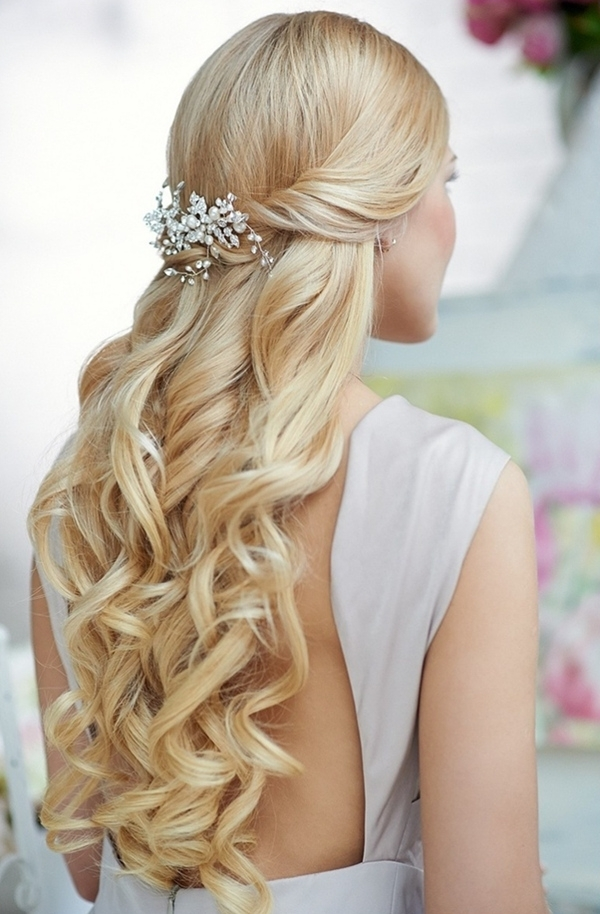 20 Most Elegant And Beautiful Wedding Hairstyles Regarding Classic Wedding Hairstyles For Long Hair (View 2 of 15)