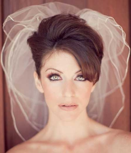 Featured Photo of Wedding Hairstyles For Short Dark Hair