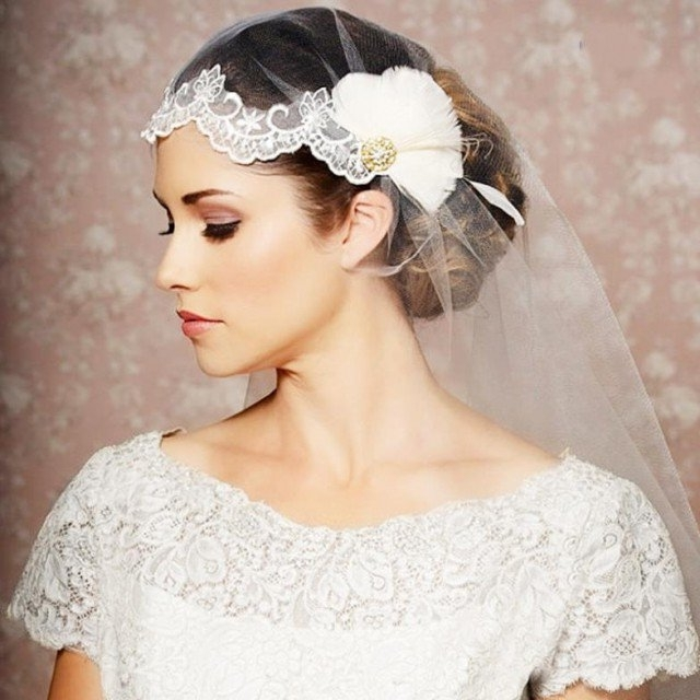 20 Stunning Wedding Hairstyles With Veils And Hairpieces – Pretty In Wedding Hairstyles With Veils (View 7 of 15)