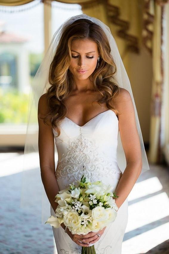 20 Wavy Wedding Hairstyles Ideas | Pinterest | Wavy Wedding Pertaining To Wedding Hairstyles For Long Wavy Hair (View 13 of 15)