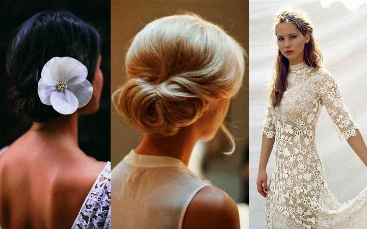 20 Wedding Ponytail Hairstyles For The Modern, Romantic, And Regarding Classic Wedding Hairstyles For Medium Length Hair (View 5 of 15)