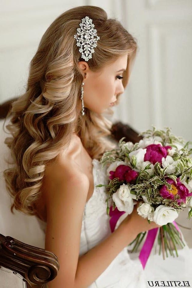 200 Beautiful Long Hair Styles That Are Great For Weddings And Proms With Big Curls Wedding Hairstyles (View 8 of 15)