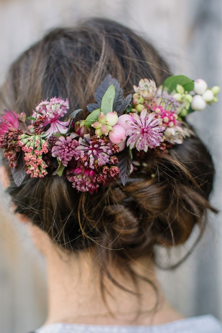 200 Best Flowers In Her Hair ~ Brides & Bridesmaids Images On With Regard To Wedding Hairstyles With Flowers (View 5 of 15)