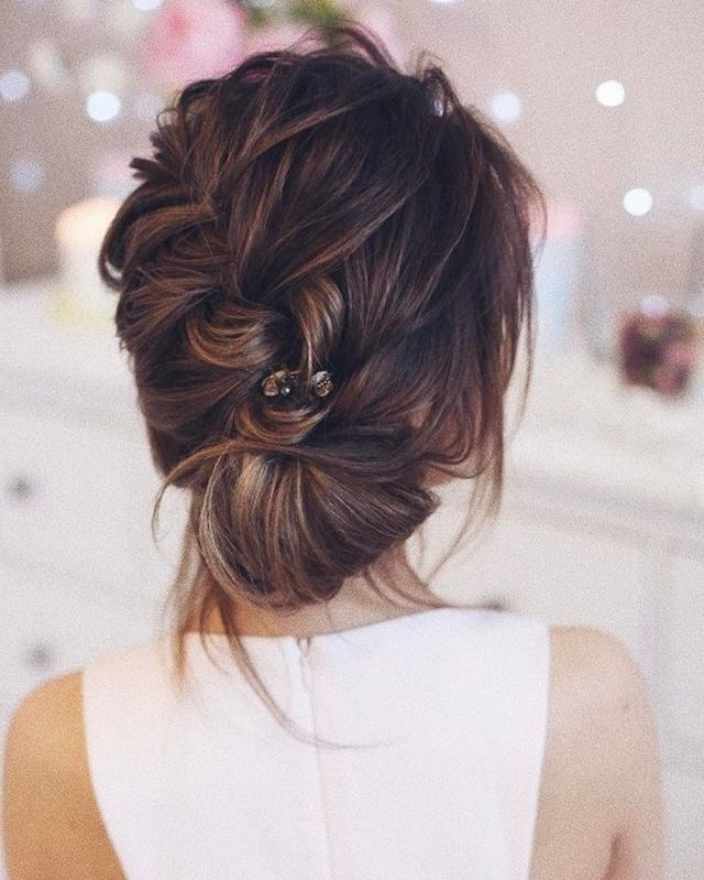 2018 Wedding Hair Trends | The Ultimate Wedding Hair Styles Of 2018 Pertaining To Wedding Updos For Long Hair With Braids (View 2 of 15)