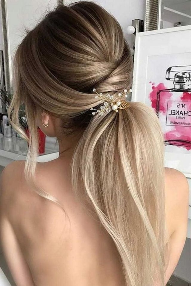 2018 Wedding Hair Trends   The Ultimate Wedding Hair Styles Of 2018 With Regard To Wedding Hairstyles With Ponytail (View 4 of 15)