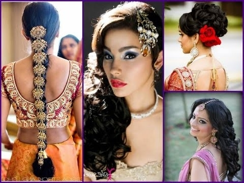 21 Best Indian Wedding Hairstyles – Youtube Pertaining To Simple Indian Bridal Hairstyles For Medium Length Hair (View 10 of 15)