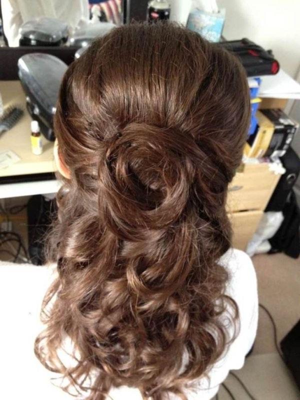 21 Best Wedding Hairstyles Images On Pinterest | Wedding Stuff Regarding Half Up Half Down Wedding Hairstyles For Medium Length Hair With Fringe (View 14 of 15)