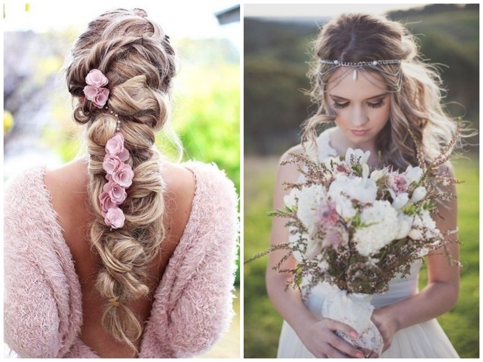 21 Boho Inspired Unique And Creative Wedding Hairstyles – Chicwedd With Boho Wedding Hairstyles (View 6 of 15)