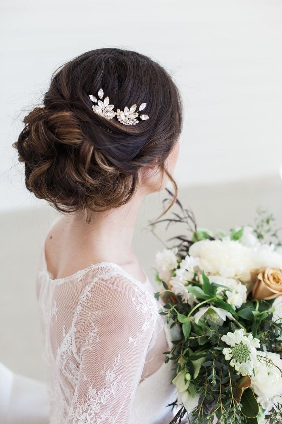 219 Best Bridal Hair Accessories & Headpieces Images On Pinterest With Wedding Hairstyles With Jewels (View 2 of 15)