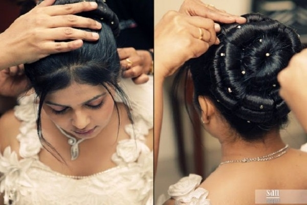 22 Best Hair Styles For Bogey Images On Pinterest | Christian Bridal Throughout Wedding Hairstyles For Kerala Christian Brides (View 1 of 15)