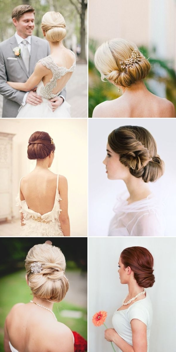 22 Timeless And Sophisticated Bridal Updos | Chignons, Updos And Inside Audrey Hepburn Wedding Hairstyles (View 2 of 15)