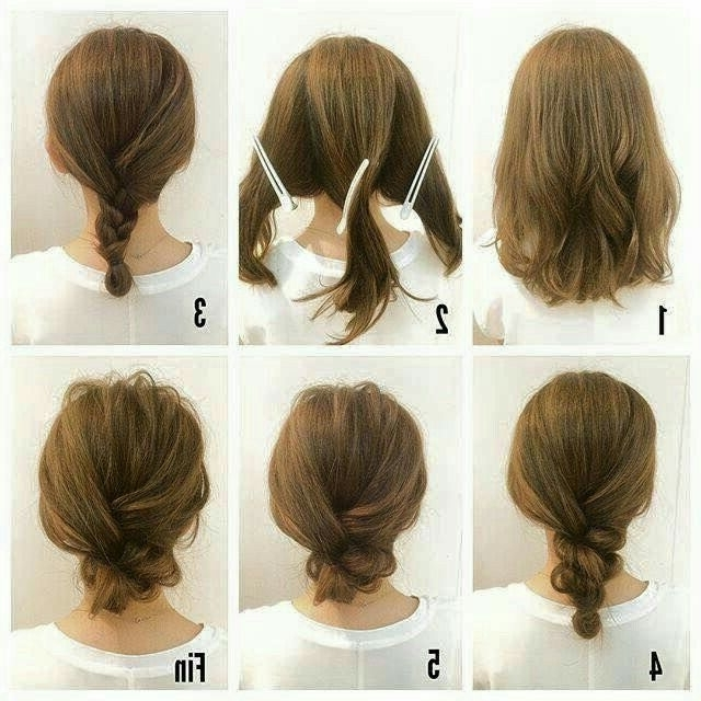 221 Best Hairspiration Images On Pinterest | Dip Dye Hair, Hair With Regard To Easy Bridal Hairstyles For Short Hair (View 1 of 15)
