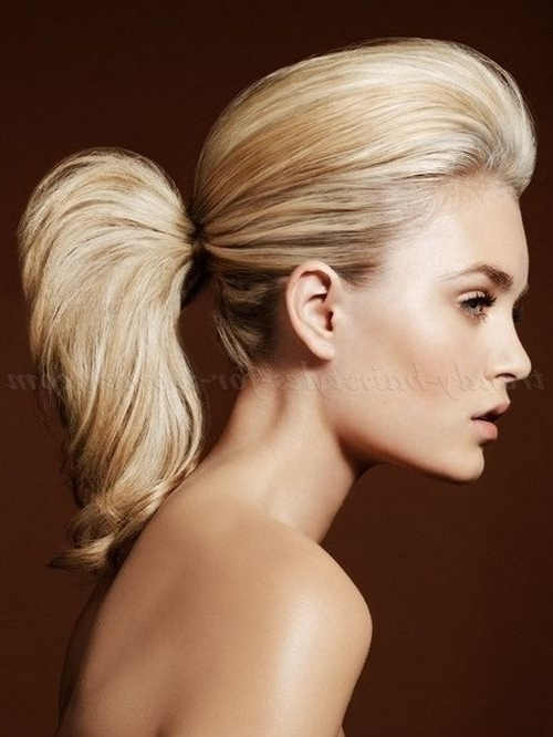 23 Best Hair Images On Pinterest | Hairdos, Bridal Hairstyles And In Bouffant Quiff Ponytail Wedding Hairstyles (View 3 of 15)