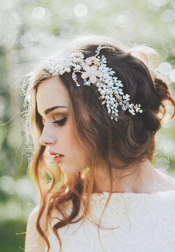 23 Best Wedding Hairstyles Images On Pinterest | Wedding Hair Styles Inside Romantic Vintage Wedding Hairstyles (View 4 of 15)