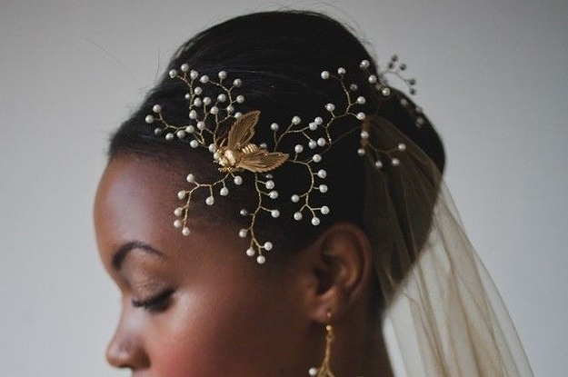 23 Bridal Hairstyles That Look Great On Black Women Throughout Wedding Hairstyles For Dark Hair (View 13 of 15)