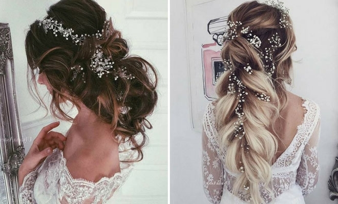 23 Romantic Wedding Hairstyles For Long Hair | Stayglam Pertaining To Wedding Hairstyles For Long Hair With Flowers (View 11 of 15)