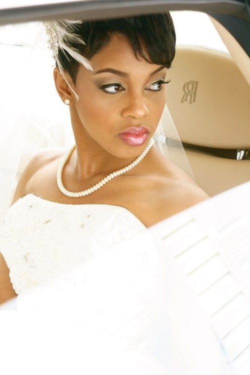230 Best Black Women Wedding Hairstyles Images On Pinterest | Bridal Throughout Bridal Hairstyles For Short African Hair (View 15 of 15)