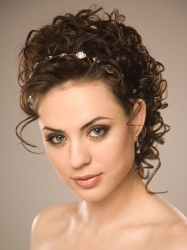 231 Best Curly Hair Images On Pinterest | Hair Trends, Hairdos And Regarding Wedding Updo Hairstyles For Long Curly Hair (View 3 of 15)