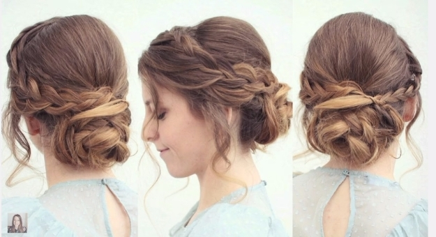 24 Beautiful Bridesmaid Hairstyles For Any Wedding – The Goddess With Regard To Easy Wedding Hairstyles For Bridesmaids (View 5 of 15)