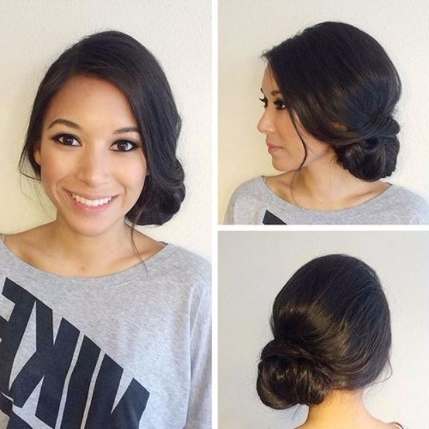 24 Beautiful Bridesmaid Hairstyles For Any Wedding – The Goddess With Wedding Hairstyles For Long Hair With Side Bun (View 1 of 15)