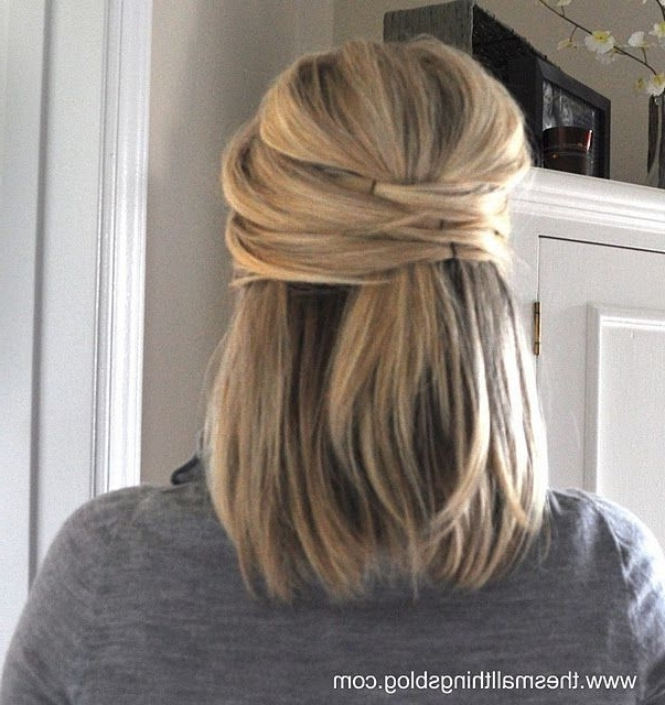 24 Best Wedding Ideas Images On Pinterest | Weddings, Beauty Makeup In Wedding Hairstyles For Medium Length Straight Hair (View 4 of 15)